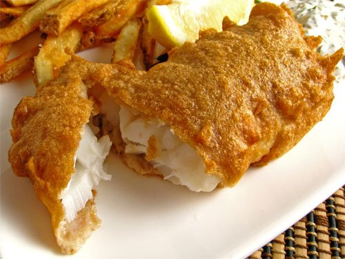 Beer batter halibut fish recipe beer batter halibut dish for Batter fried fish