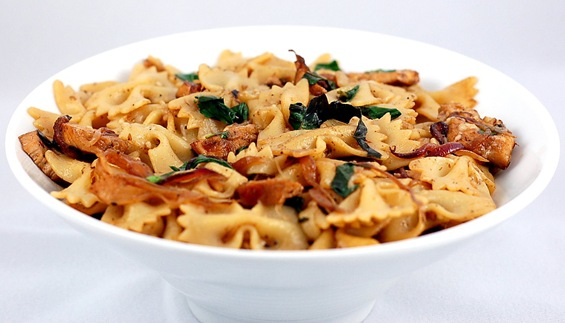 Farfalle Abruzzese With Veal, Porcini, And Spinach Recipe ...