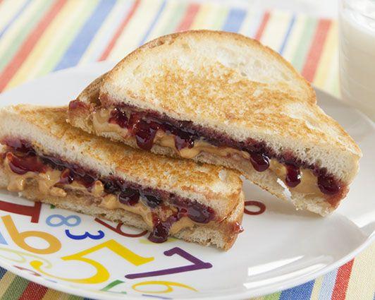Grilled Peanut Butter & Jam bread recipe - grilled peanut butter & ja...