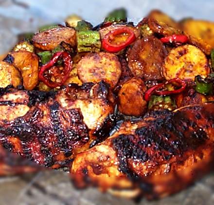 Jamaican jerk chicken main dish recipe jamaican jerk for Authentic jamaican cuisine