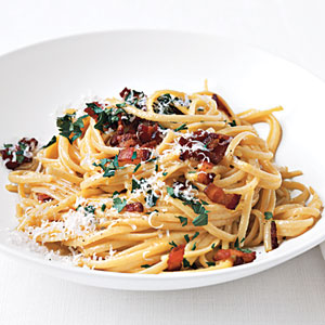 Low Fat Pasta Carbonara 74
